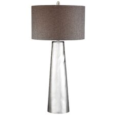"Solorzano Tapered Cylinder Mercury Glass LED 37.5"" Table Lamp"