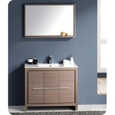 Allier 40 Single Bathroom Vanity Set with Mirror by Fresca