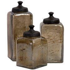Luster 3 Piece Decorative Jar Set by August Grove