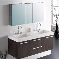 Senza Opulento 54 Double Bathroom Vanity Set with Mirror by Fresca