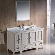 Oxford 54 Single Traditional Bathroom Vanity Set with Mirror by Fresca