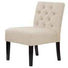 Lashbrook Hardwood Framed Cotton Slipper Chair by Red Barrel Studio