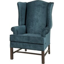 Wayne Chippendale Wingback Chair by Darby Home Co
