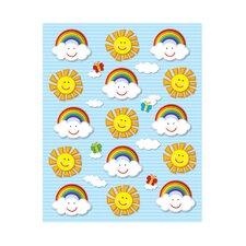 Suns and Rainbows Shape Sticker (Set of 3)