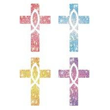 Dazzle Crosses Sticker (Set of 120)