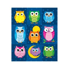 Colorful Owls Prize Pack Sticker (Set of 4)