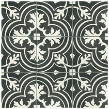 "Forties 7.75"" x 7.75"" Ceramic Patterned/Field Tile in Gray"