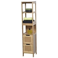 Mahe Bathroom Free Standing 11.13 W x 56.12 H Linen Tower by Evideco