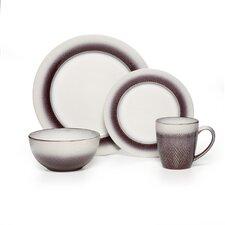 Eclipse Stoneware 16 Piece Dinnerware Set, Service for 4