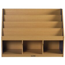 3 Compartment Book Display with Trays