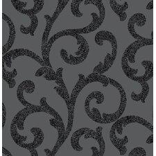 Glitterati Scroll 10.05m x 53cm Wallpaper Roll