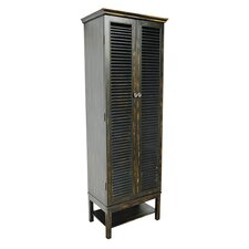 Ouellet Louvered Door Tall Cabinet by August Grove