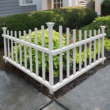 Ashley Vinyl Corner Picket Accent Fence
