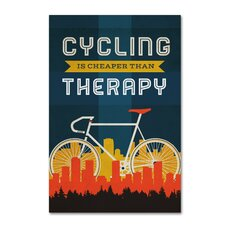 'Bicycle 2' Graphic Art Print on Wrapped Canvas