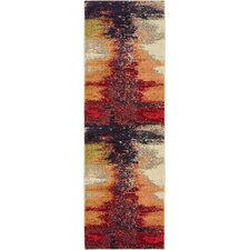 Ned Orange Abstract Area Rug
