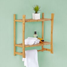Bamboo 19.9 W x 21.3 H Bathroom Shelf by BEST LIVING INC