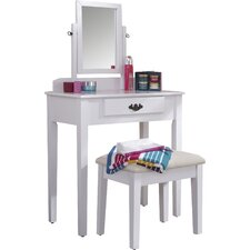 Sheila Dressing Table Set with Mirror
