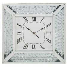 Winston Mirror Floating Crystal Wall Clock