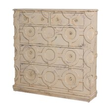 Folke Carved Wall 5 Drawer Accent Chest by Beachcrest Home