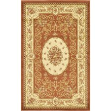 Oskar Brick Red Area Rug