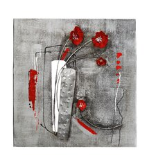 Wanddekoration Abstract Flowers II