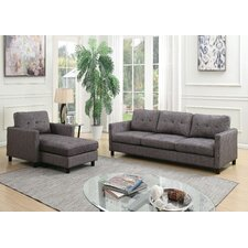 Bischoff Sectional Sofa Reversible Ottoman