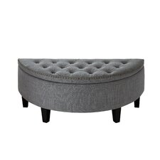 Silsden Linen Modern Contemporary Button Tufted Half Moon Storage Ottoman by Darby Home Co