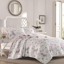 Breezy Floral 100% Cotton Reversible Quilt Set