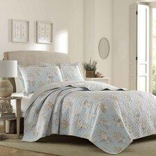 Seaside 100% Cotton Reversible Quilt Set