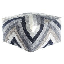 Dorsey Chevron Pouf Ottoman by Union Rustic