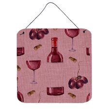 Red Wine on Linen Wall Décor