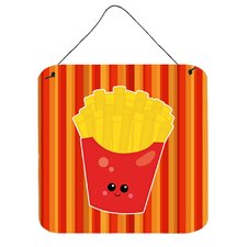 French Fries Face Vertical Wall Décor