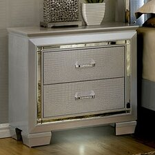 Bokan Lake 2 Drawer Nightstand by Rosdorf Park