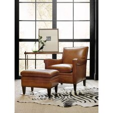 Jilian Club Chair with ottoman by Hooker Furniture