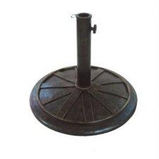 "13"" Free Standing Round Cast Stone Umbrella Base"