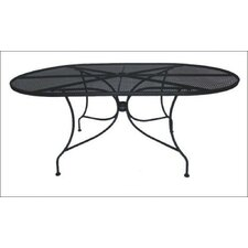 Charleston Oval Wrought Iron Dining Table