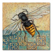 'Yellow Jacket' Graphic Art Print on Wrapped Canvas