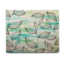 Nature 'Tropical Leaf Garden' Graphic Art Print on Wood