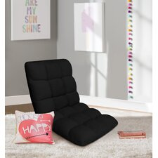 Microplush Armless Quilted Recliner Bean Bag Chair