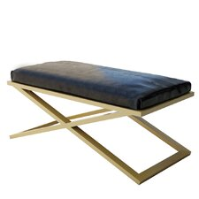 Ahumada X-Base Leather Bedroom Bench by Everly Quinn