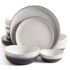 Stark Double Bowl 16 Piece Dinnerware Set, Service for 4