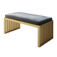 Ahumada Metal Frame Upholstered Entryway Bench by Everly Quinn