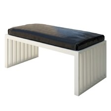 Ahumada Leather Solid Bedroom Bench by Everly Quinn