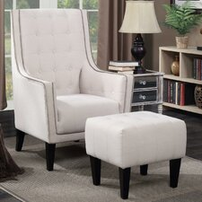 Warwick Armchair and Ottoman by Alcott Hill