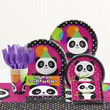 81 Piece Panda-Monium Birthday Paper/Plastic Tableware Set