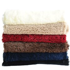 Canales Faux Long Fur Throw Blanket
