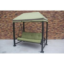 Trevino 3 Person Porch Swing Metal Frame with Stand