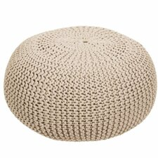 Dureau Knitted Cotton Ottoman by Bungalow Rose