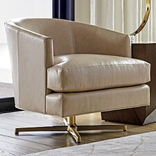 Zavala Graves Leather Swivel Club Chair by Lexington