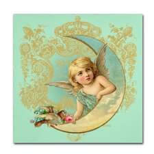 Luna Angel' Graphic Art Print on Wrapped Canvas by Trademark